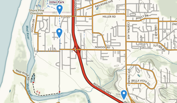 trail locations for Hiller Park