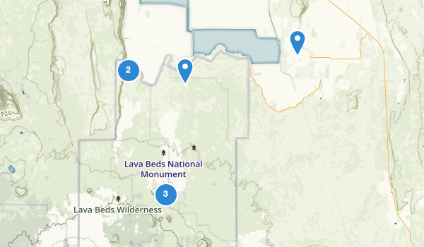 trail locations for Lava Beds National Monument