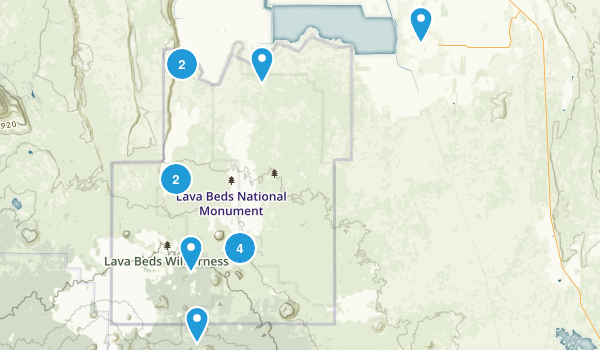 Lava Beds National Monument Map
