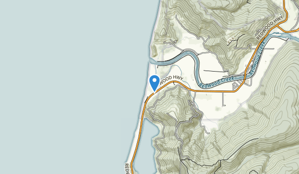 trail locations for Redwood Creek Beach County Park