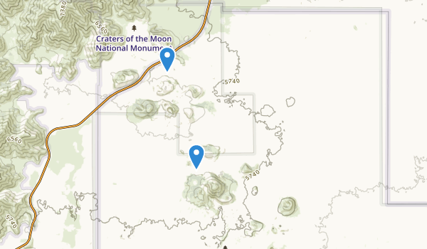 Craters of the Moon National Monument Map