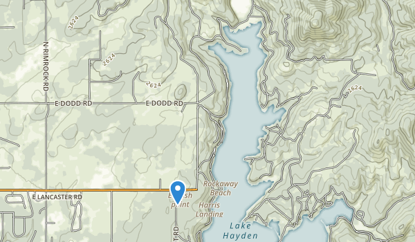 trail locations for Hayden Lake Sportsman Park