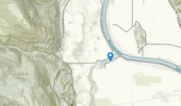 trail locations for Kootenai National Wildlife Refuge