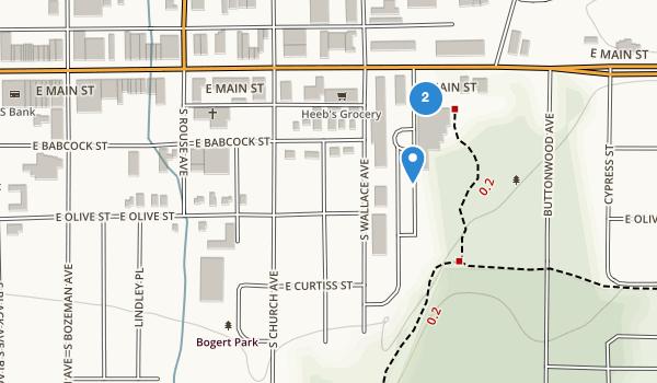 trail locations for Bogert Park