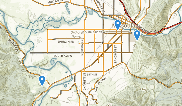 trail locations for K Williams Natural Trail Area