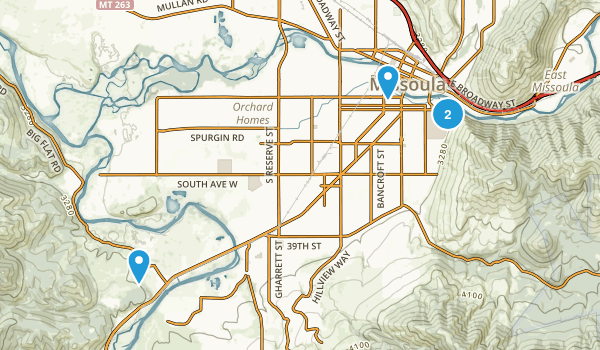 K Williams Natural Trail Area Map