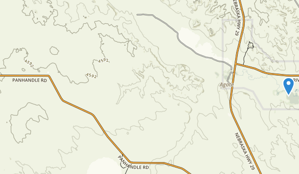 Agate Fossil Beds National Monument Map