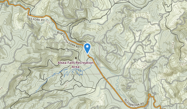 Alsea Falls Recreation Site Map