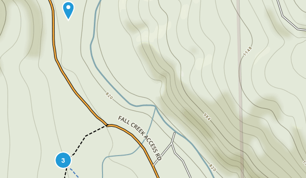Alsea Falls Recreation Site Map