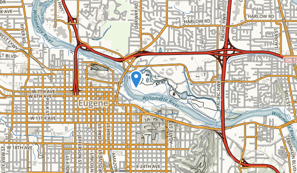 trail locations for Alton Baker City Park