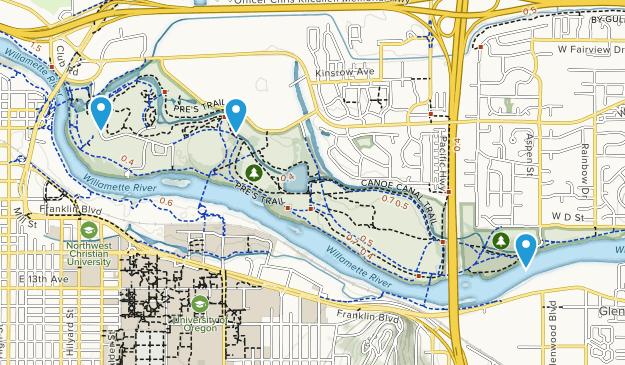 Alton Baker City Park Map