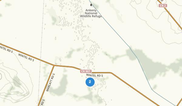 trail locations for Ankeny National Wildlife Refuge