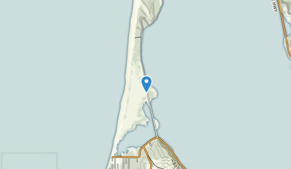 trail locations for Bayocean Peninsula County Park