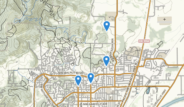 trail locations for Brandis City Park