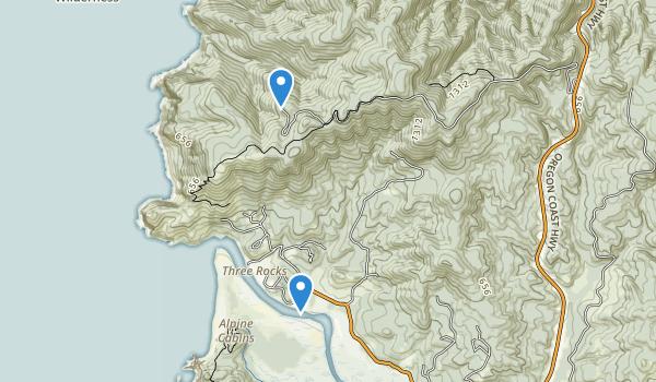 Cascade Head Scenic Research Area Map