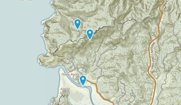 Cascade Head Scenic Research Area Map