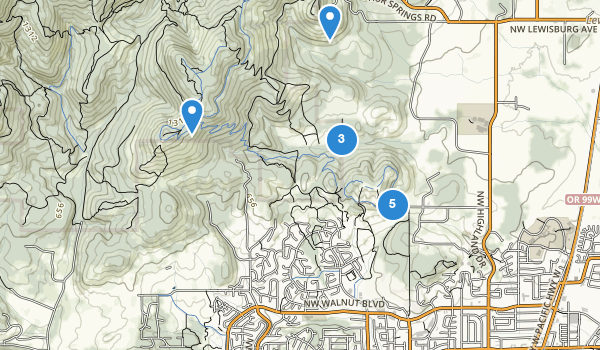 trail locations for Chip Ross City Park