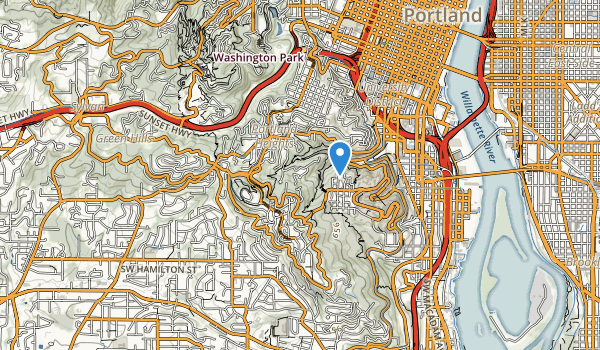 trail locations for Council Crest City Park