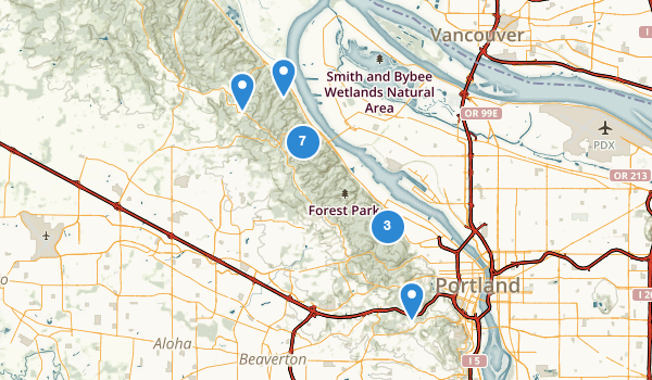 trail locations for Forest Park