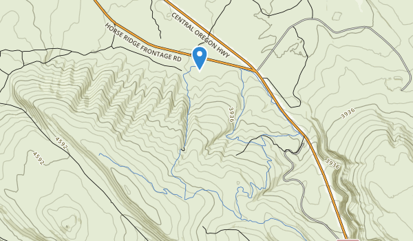 trail locations for Horse Ridge Natural Area
