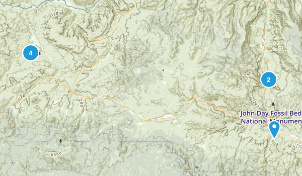 John Day Fossil Beds National Monument Map