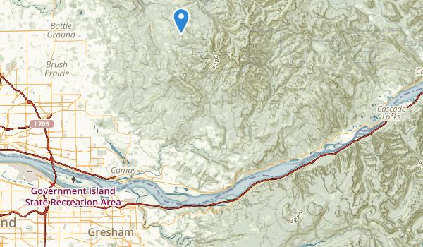 trail locations for Larch Mountain Corridor