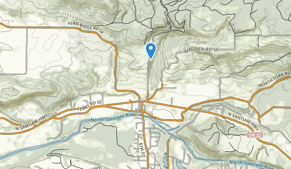 trail locations for Lyons Mehama County Park