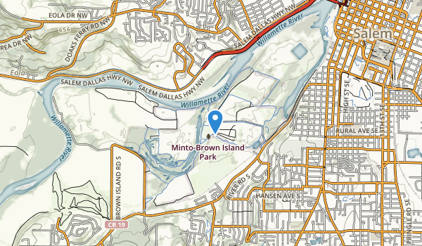 trail locations for Minto-Browns Island City Park