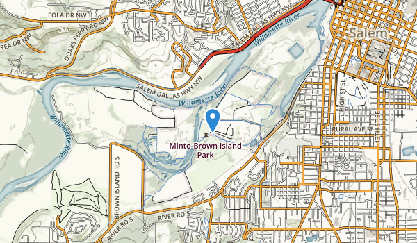 Minto-Browns Island City Park Map