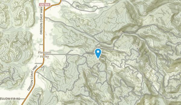 Munson Creek Falls State Natural Area Map