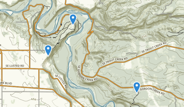 trail locations for Oxbow Regional Park