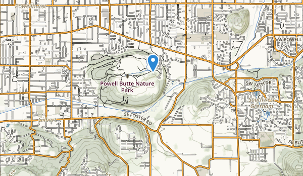 trail locations for Powell Butte Nature Park