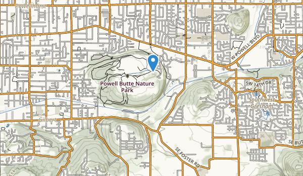 Powell Butte Nature Park Map