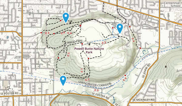 Powell Butte Nature Park Map