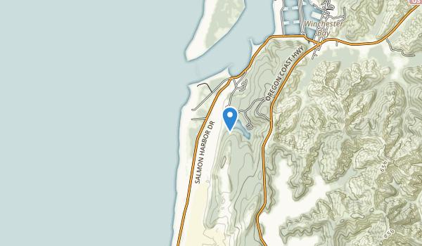 trail locations for Ziolkouski Beach Park