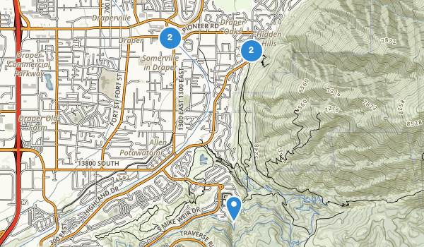 trail locations for Draper Park
