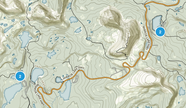 Mirror Lake Recreation Site Map