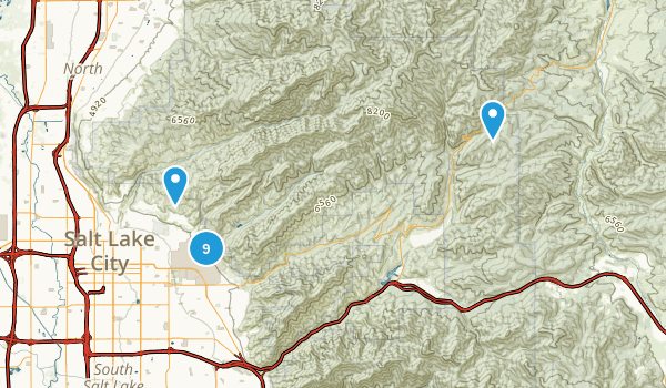 Red Butte Canyon Research Natural Area Map