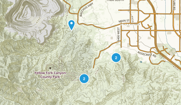 Yellow Fork Canyon County Park Map