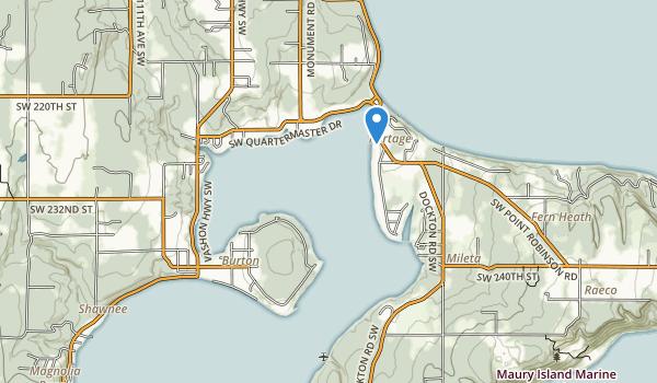 trail locations for Burton Acres Park