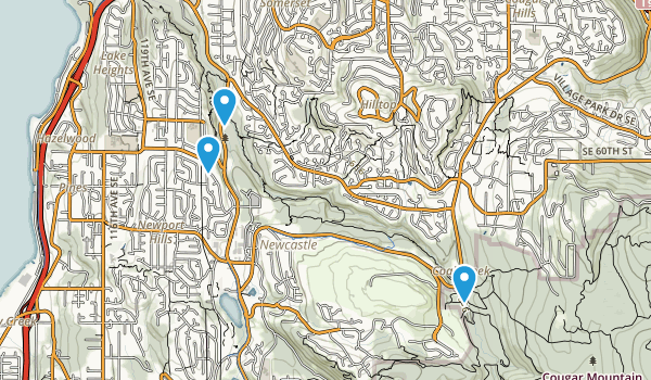Coal Creek Park Map