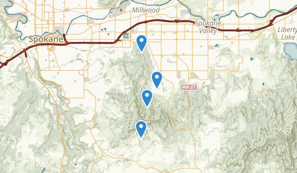 Dishman Hills Natural Area Map
