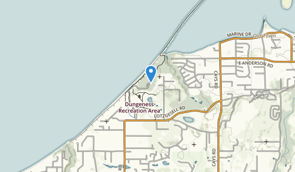 trail locations for Dungeness Recreation Area