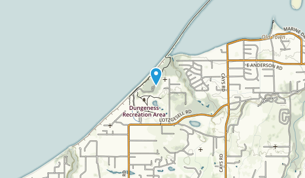 Dungeness Recreation Area Map