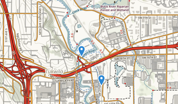 trail locations for Fort Dent Athletic Center