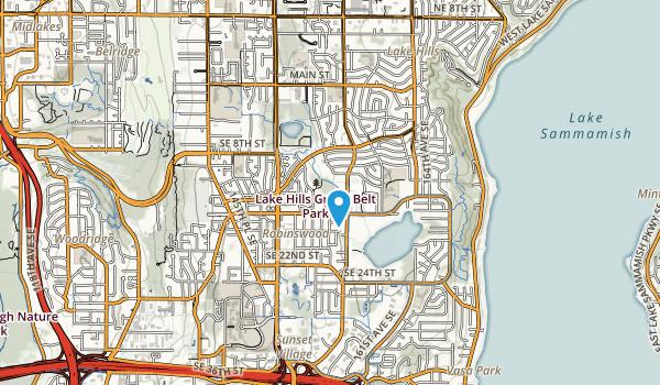 Lake Hills Green Belt Park Map