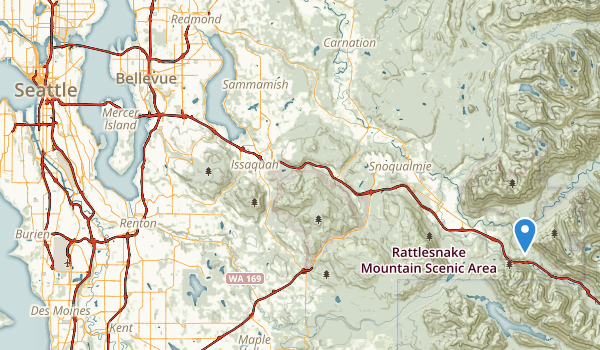 trail locations for Mount Baker Park