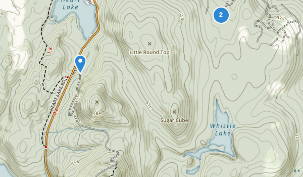 trail locations for Mount Erie Park