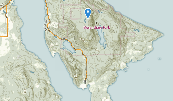 trail locations for Olga Marine State Park