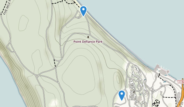 trail locations for Point Defiance Park